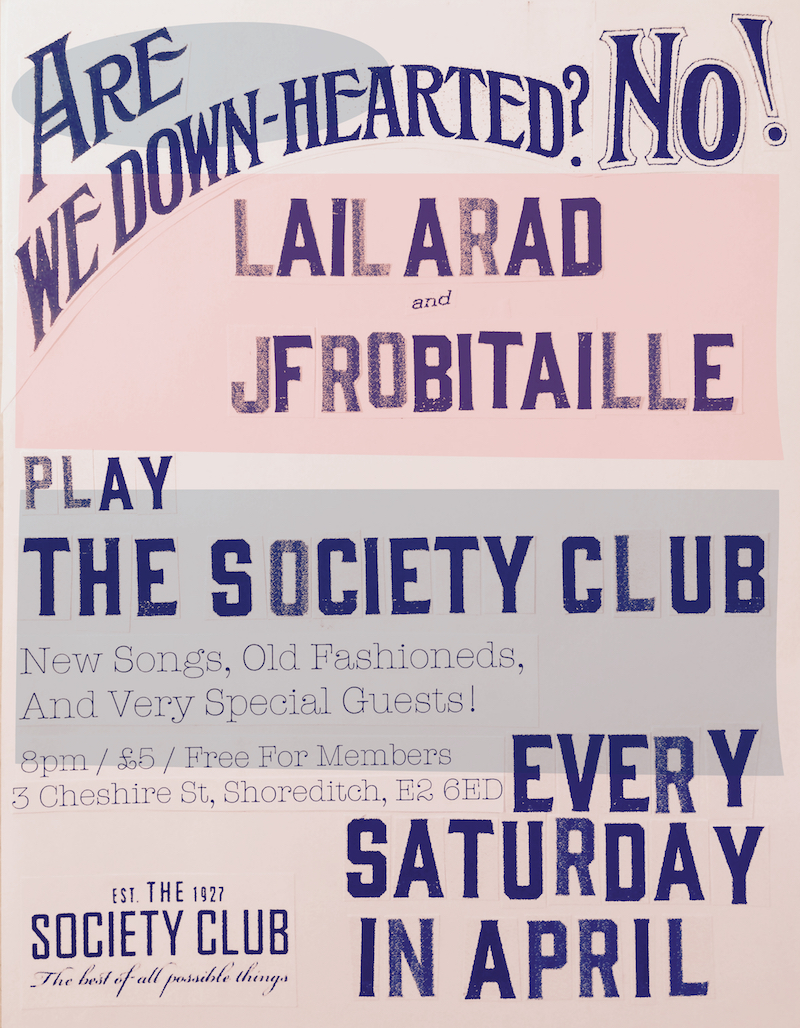 JF Robitaille The Society Club event poster